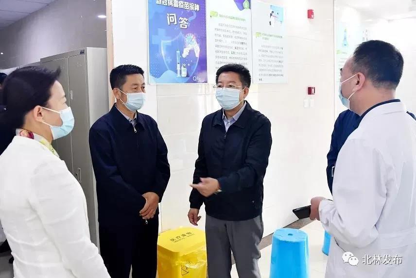 孙恒义深入北林区第一人民医院检查督导常态化疫情防控工作